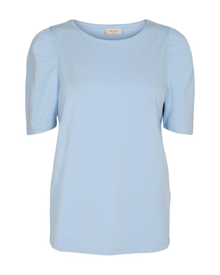 Freequent Fenja Tee Puff sleeve, lysblå