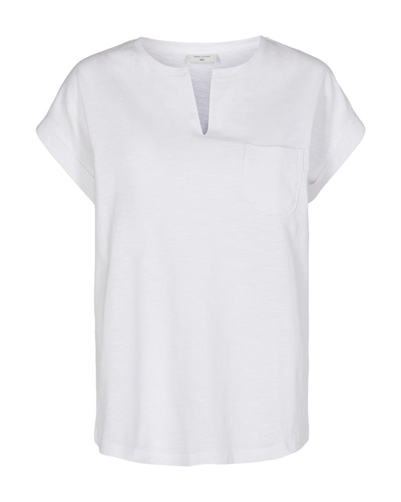 Freequent pocket t-shirt, brilliant white