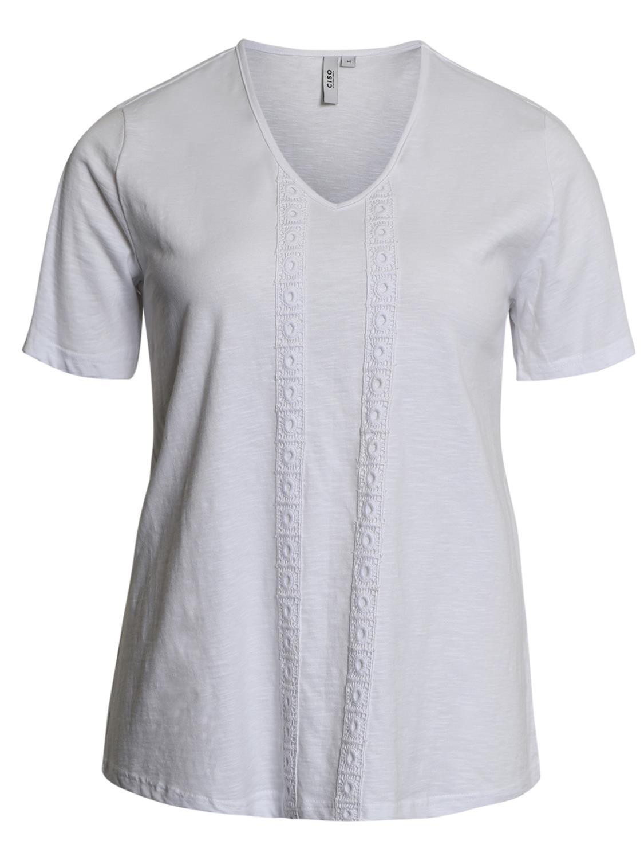 Ciso T-shirt, V-hals, hvit