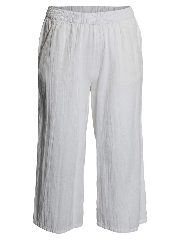 Ciso Bomull/lin bukse, hvit
