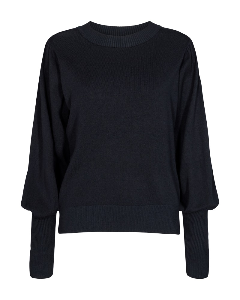 Freequent Jone puff pullover, salute/marineblå