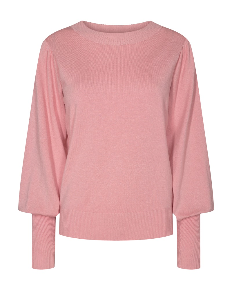 Freequent Jone puff pullover, silver pink