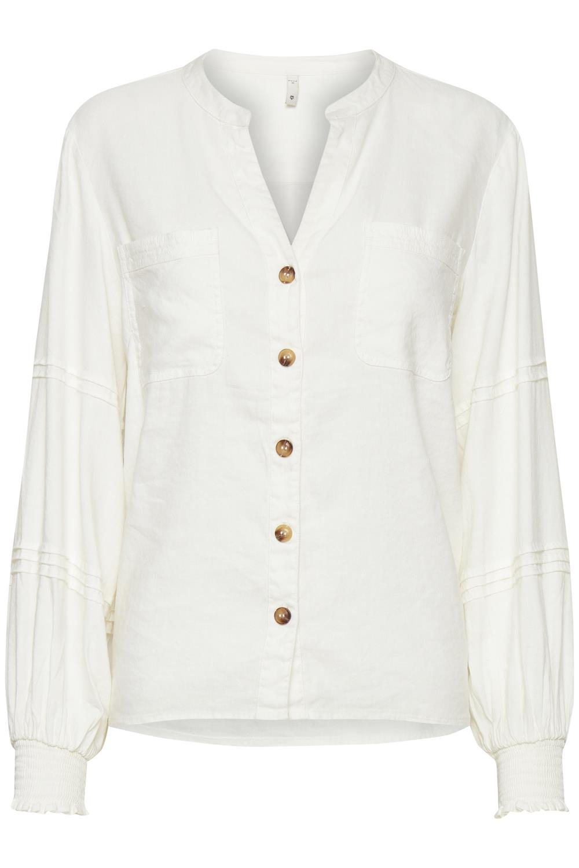 Pulz Luca shirt, white sand