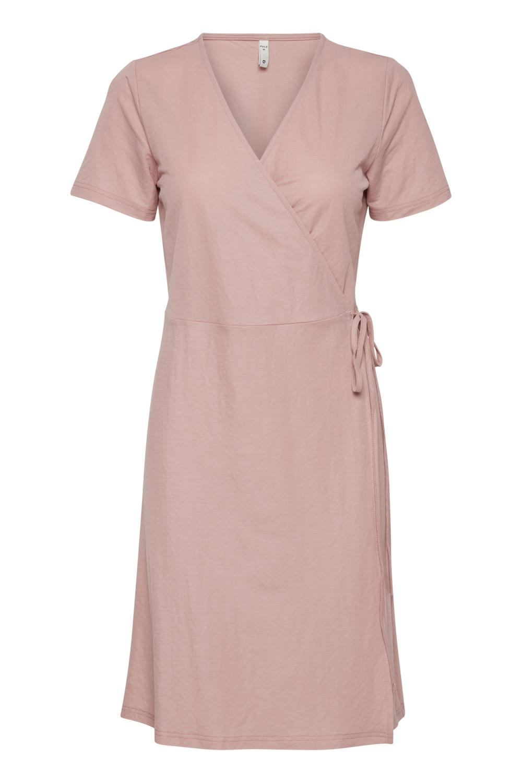Pulz Amelia wrap dress, mohogany rose/rosa