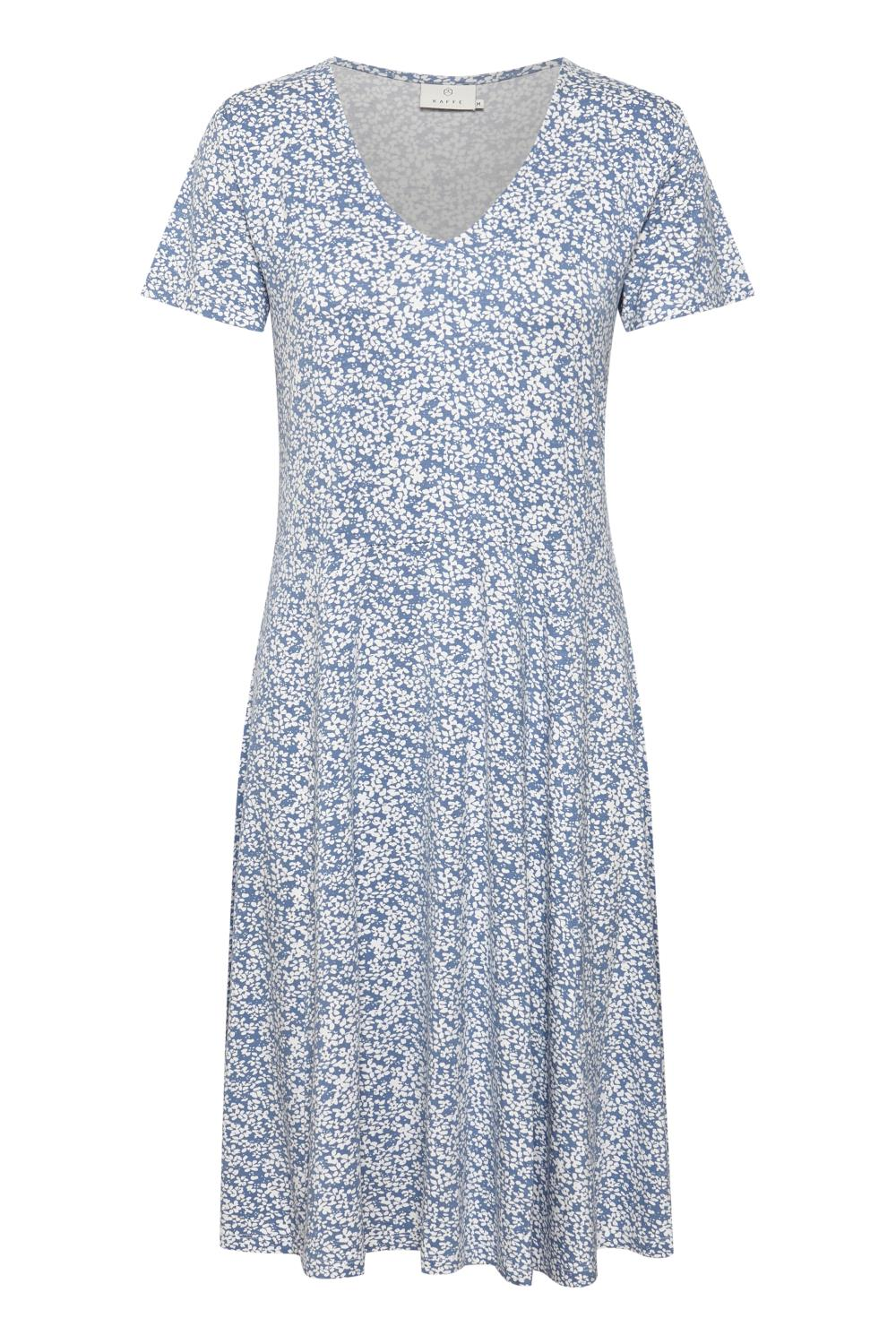 Kaffe Molly Jersy Dress, blåmønstret