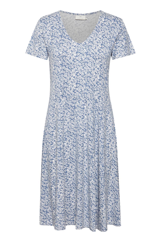 Kaffe Molly Jersy Dress, blåmønstret
