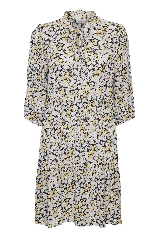 Kaffe Felia Amber dress, golden haze/chalk daisy