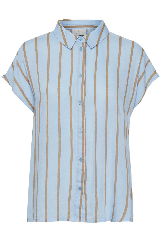 Kaffe Gamila Shirt, lysblå stripet