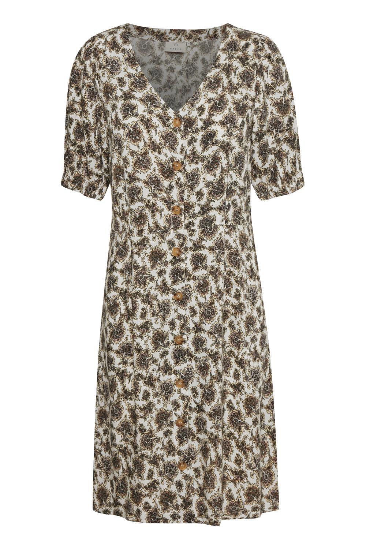 Kaffe Drizzle Dress, mønstret viskose kjole