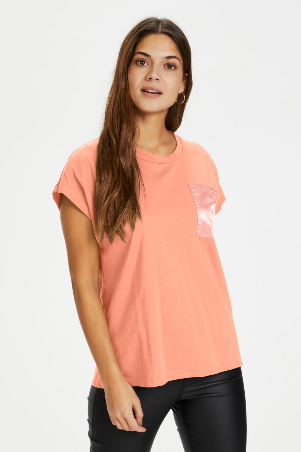 Kaffe Blanca T-shirt, bomull, orange