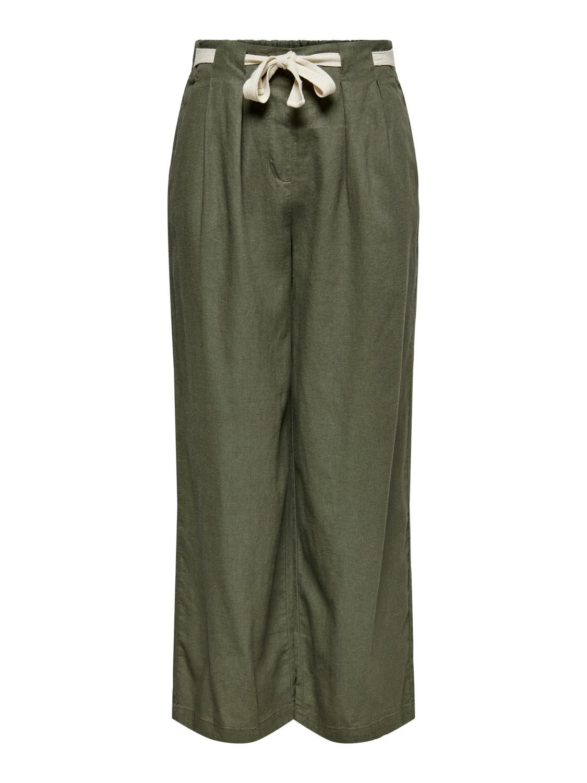 Jacquelin de Yong Say Linen Pant, olivengrønn
