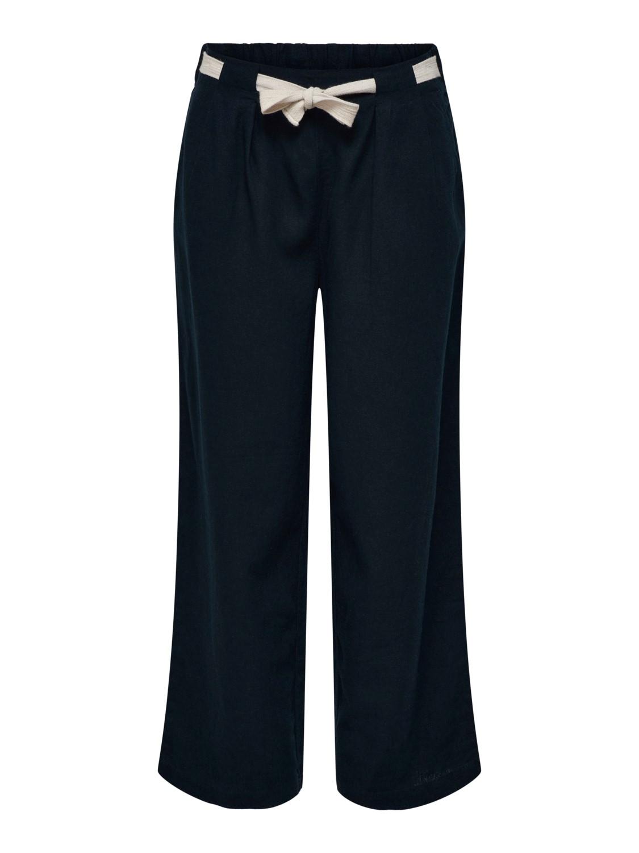 Jacquelin de Yong Say Linen Pant, marineblå