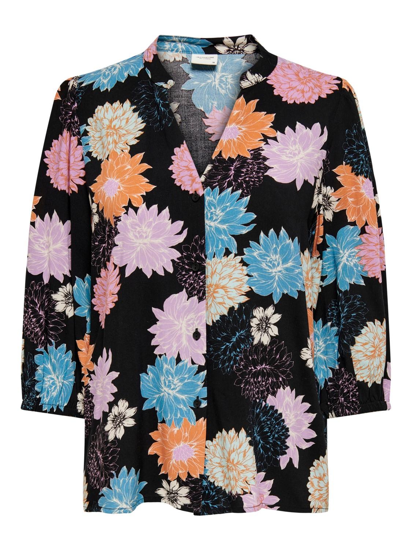 Jacqueline de Young Staar life 3/4 shirt, black/multicolor