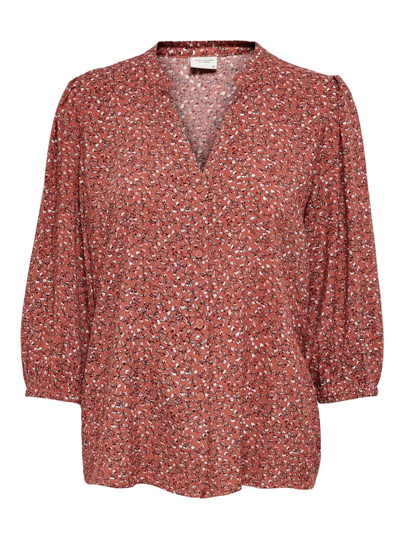 Jacqueline de Young Staar life 3/4 shirt, etruscan red/mini flower