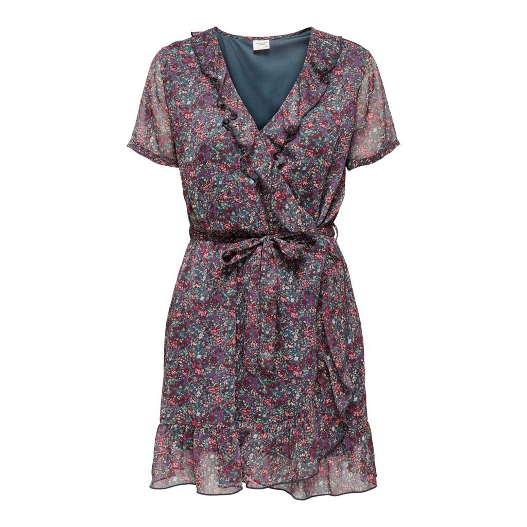 Jacqueline de Young Jennifer life s/s wrap dress, phantom/white flower