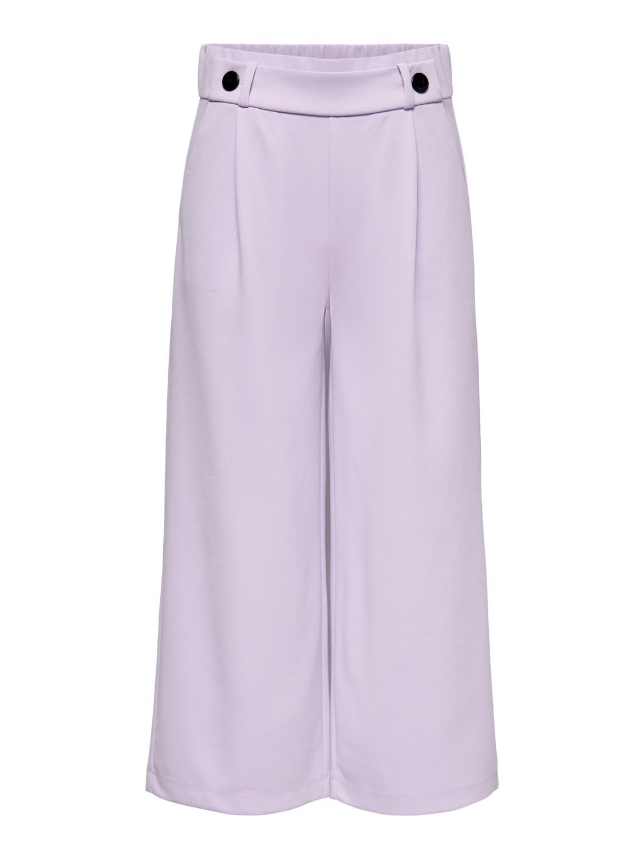 Jacqueline de Young Geggo, ancle pants, pastel lilac/black button