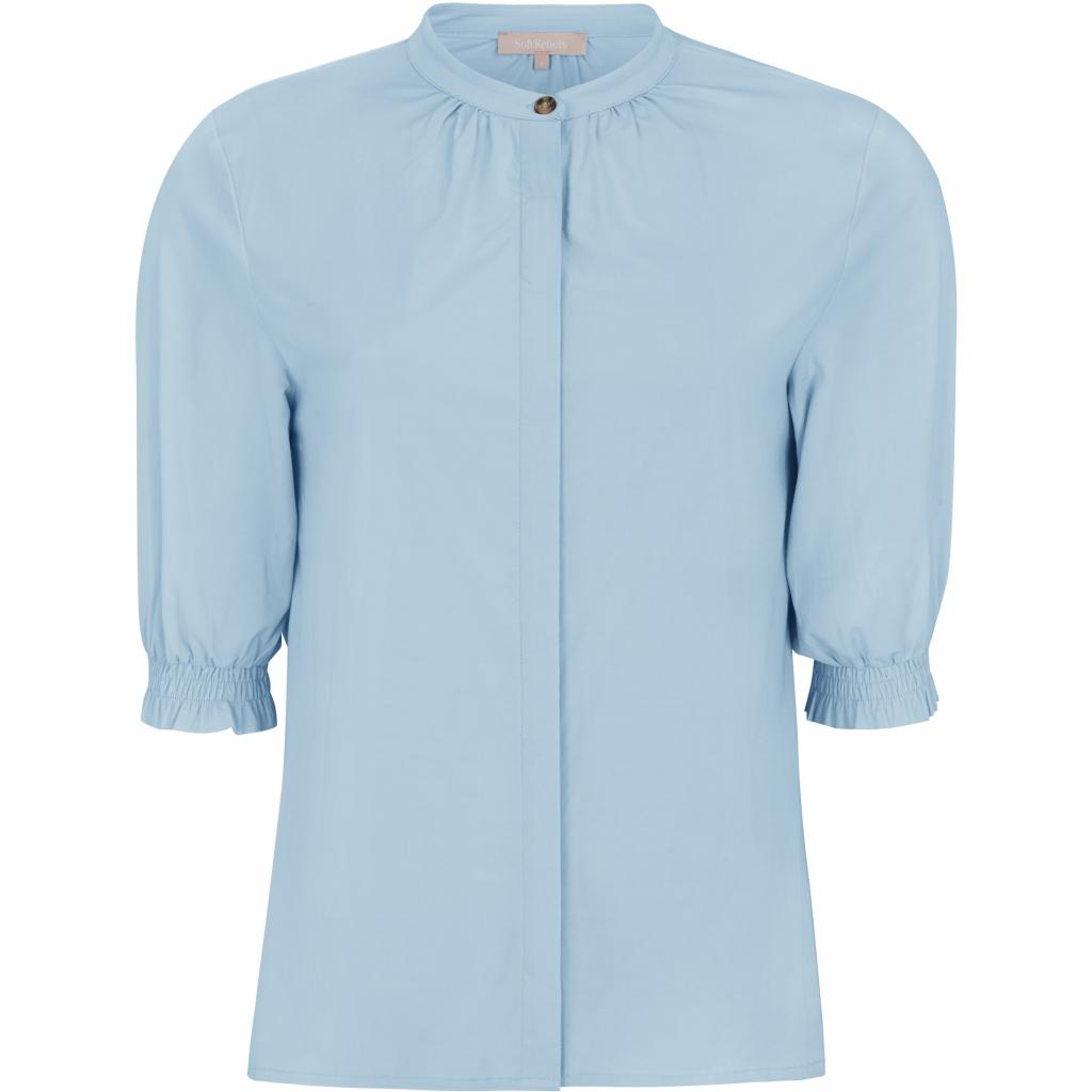 Soft Rebels SRGilly 2/4 shirt, cashmere blue/lys blå