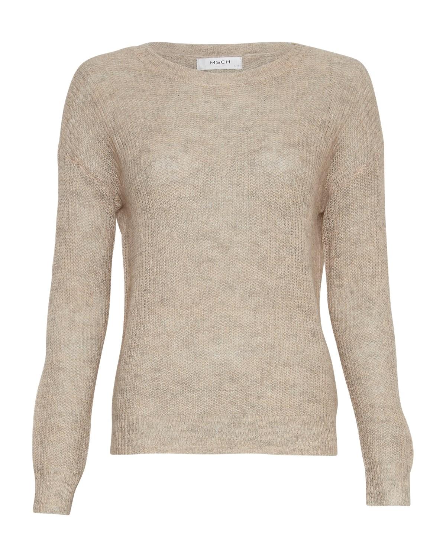 MSCH Bennet mohair pullover, beige