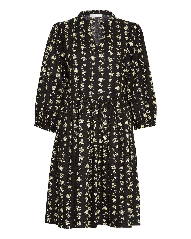 MSCH Clarabel 3/4 dress, black flower