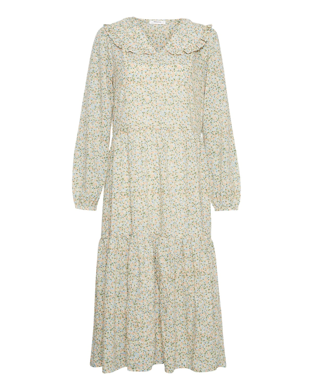 MSCH Evette LS dress, ecru flower
