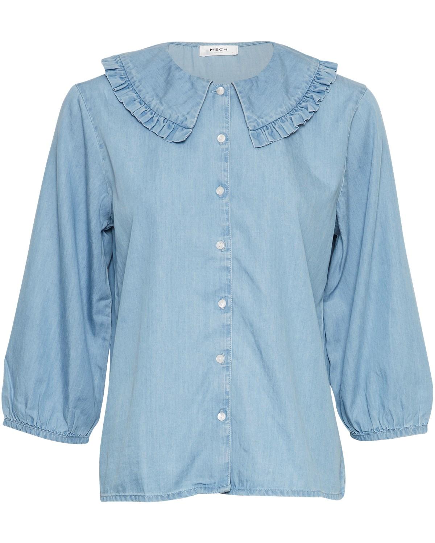 MSCH Flikka Jaina 3/4 shirt, light blue wash