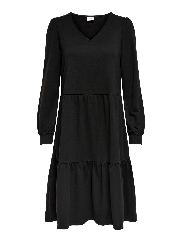 Jacqueline de Young Mary V-neck sweat dress, black