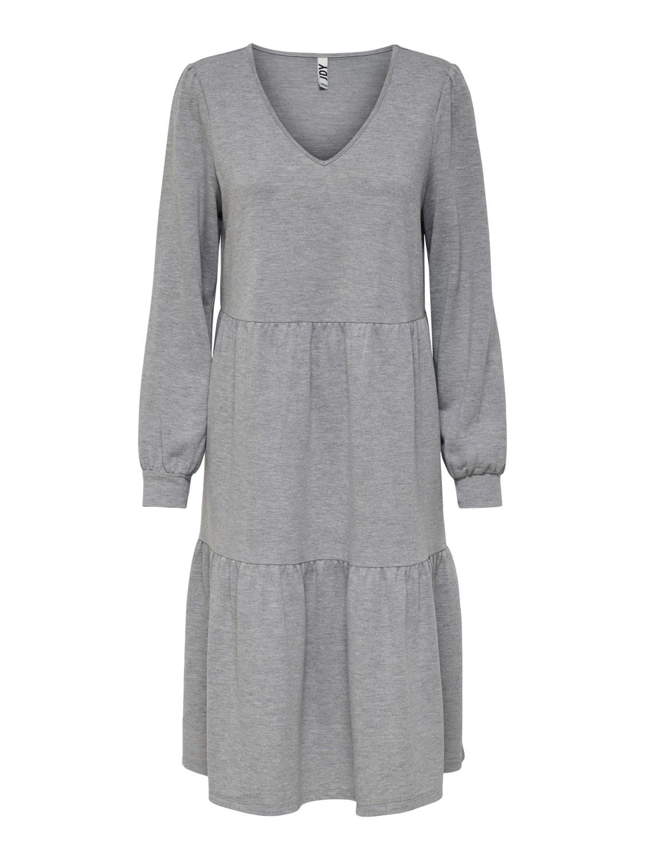 Jacqueline de Young Mary V-neck sweat dress, light grey