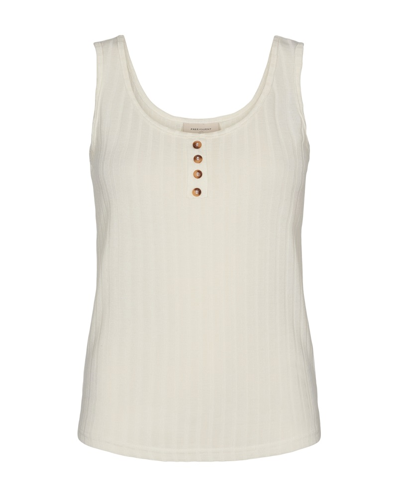 Freequent Basac top, brilliant white