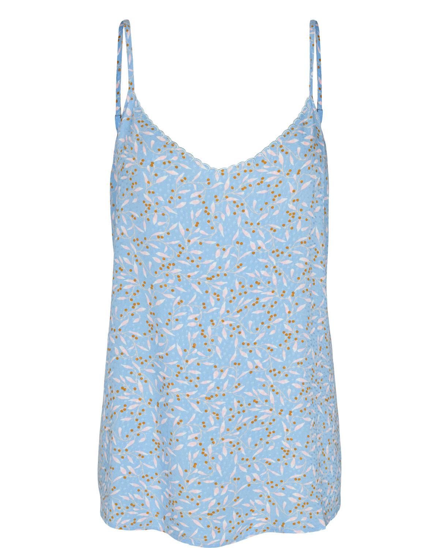 Nümph Carmal Top, lysblå mønstret