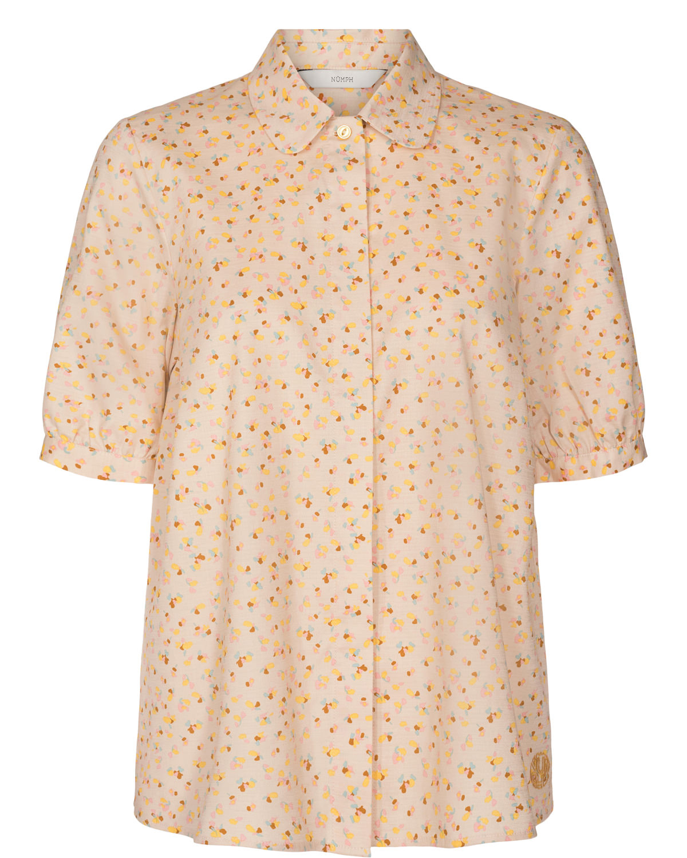 Nümph Charlie Shirt, beige mønstret