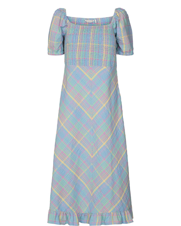 Nümph Checly Dress, blå rutet