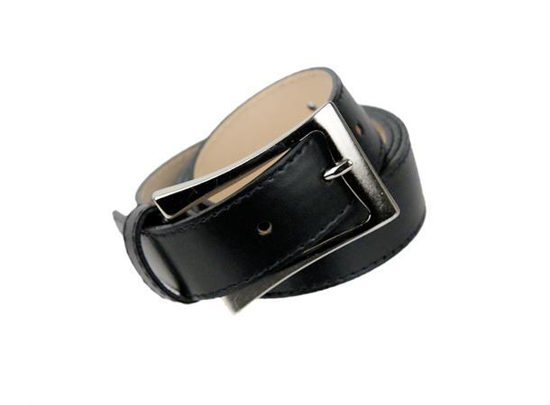 Intex Scandia Belte 3cm m/søm og enkel spenne XL, sort