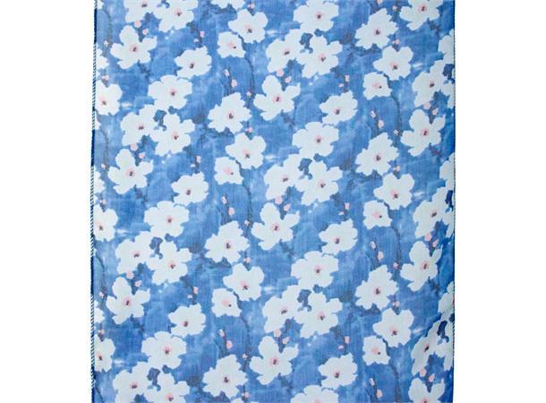 Intex Scandia skjerf chiffon blomstret, mørk blå