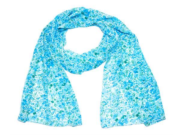Intex Scandia skjerf chiffon blomstret, blå