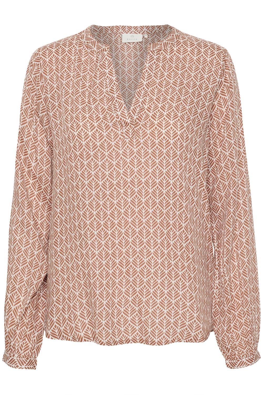 Kaffe Marlu blouse, russet/chalk