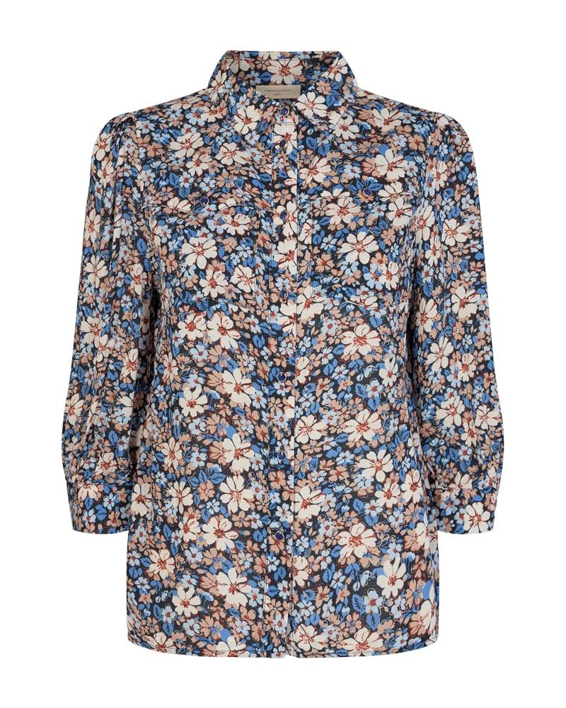 Freequent Regitze shirt, dutch blue mix