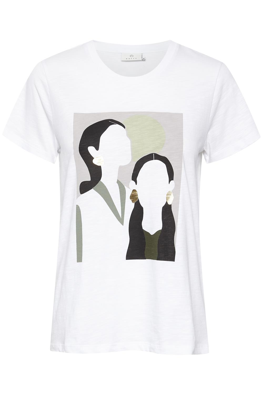 Kaffe Britt T-shirt, optical white/print