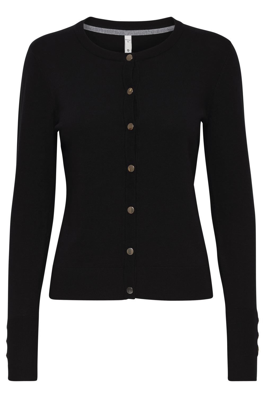 Pulz Sara LS short cardigan, black beauty