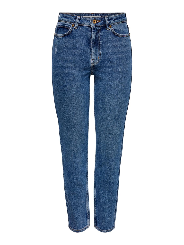Jacqueline de Young Kaja life high straight ankle jeans, medium blue denim