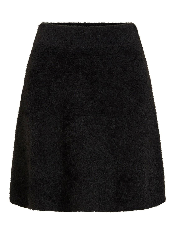 Vila Helly skater skirt, black