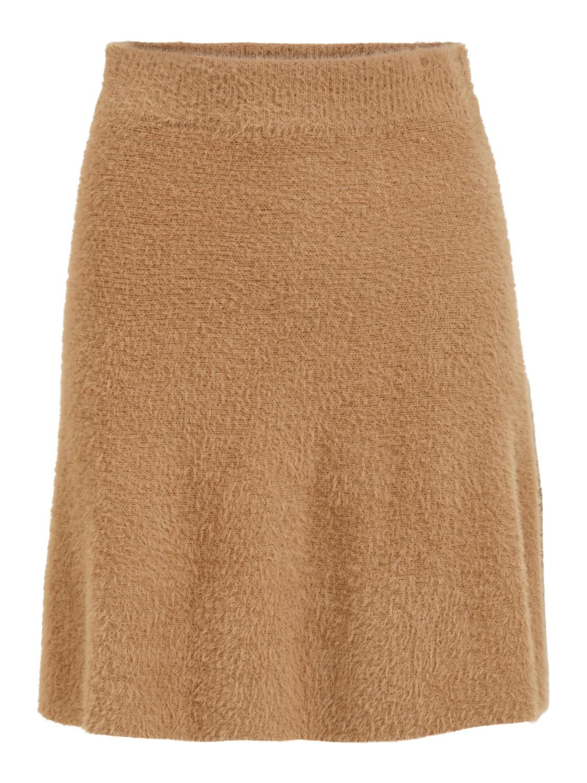 Vila Helly skater skirt, tigers eye/lys brun