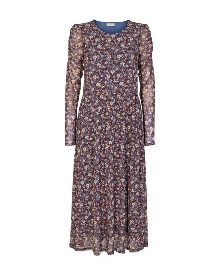 Freequent Lama Dress, blåmønstret