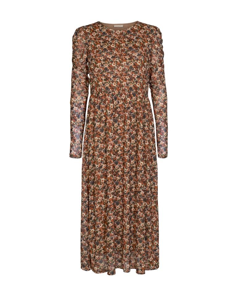 Freequent Lama Dress, brunmønstret
