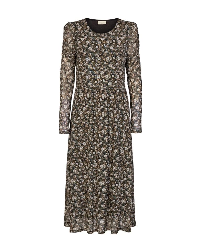 Freequent Lama Dress, grønnmønstret