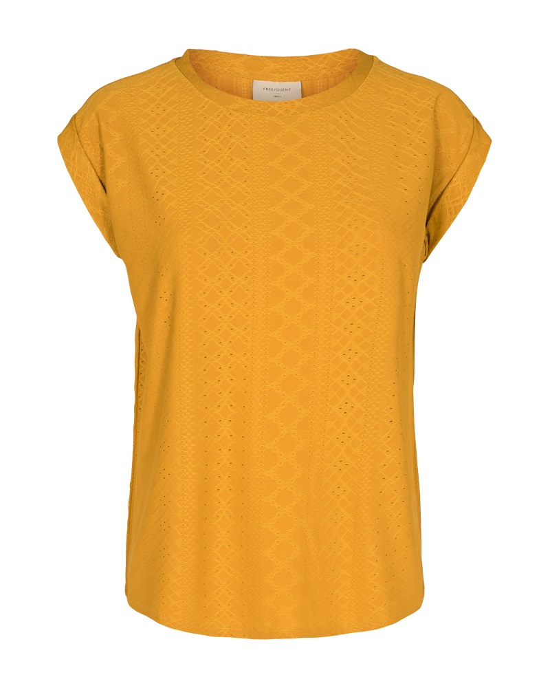 Freequent Blond tee, harvest gold/gul