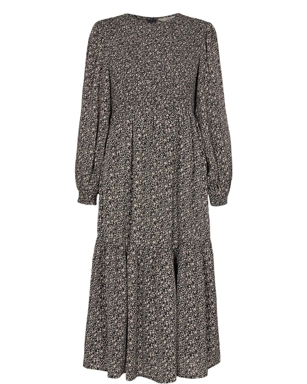 Nümph Caltum Dress, sortmønstret