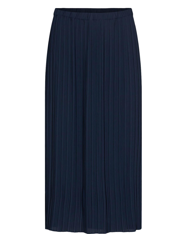 Nümph Abigal Skirt, plissert, marineblå