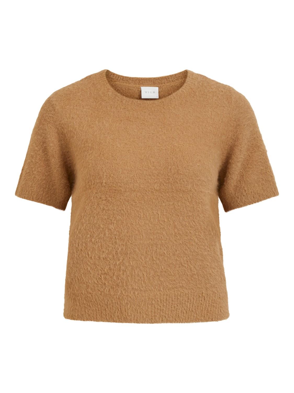 Vila Helly Knit top, lys brun