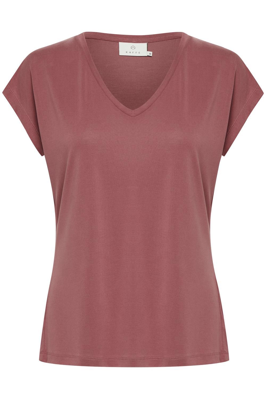 Kaffe Lise T-shirt, modal/polyester, mørk rosa