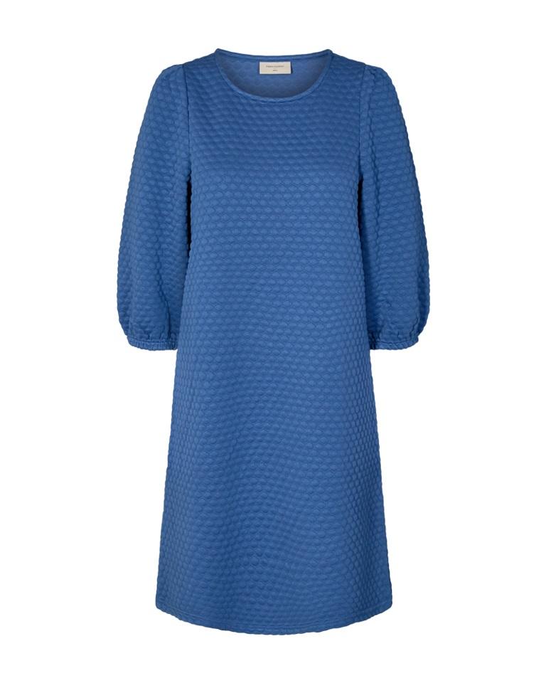 Freequent Bobble Dress, blå